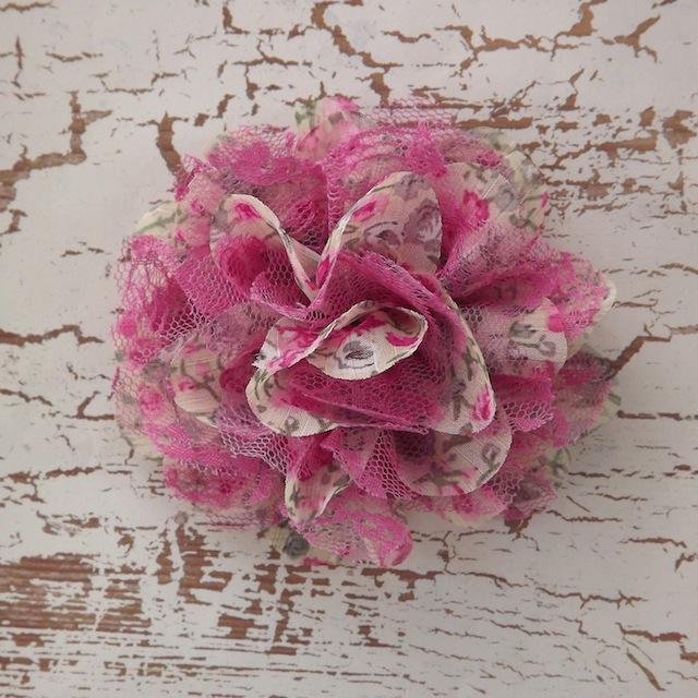 Greypink floral print chiffon flower mightylinksfo Images